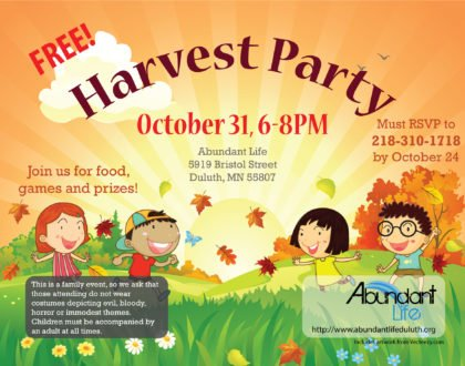 Harvest Party October 31, 2019